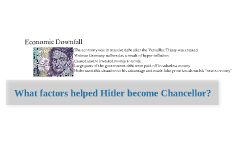 Copy of What things helped Hitler become Chancellor?