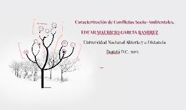 Carazterización de Conflictos Socio-Ambientales.