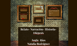 Copy of Relato- Narración- Historia- Diégesis