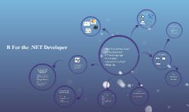 R For the .NET Developer