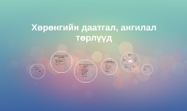 Copy of Хөрөнгийн даатгал, ангилал төрлүүд