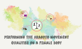 Using the Aragoto movement qualities on a female body