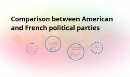 Copy of Comparison between American and French political parties