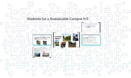 Students for a Sustainable Campus 9/5