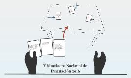 V Simulacro Nacional de Evacuación 2016