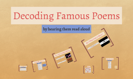 Decoding Famous Poems
