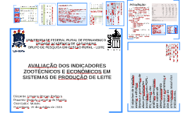 Avaliação dos Indicadores Zootécnicos e econômicos em Sistemas de Produção de Leite