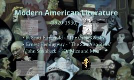 Modern American Lit & Gatsby