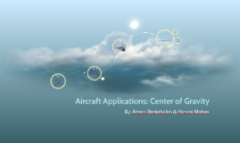 Aircraft Applications: Center of Gravity
