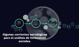 Corrientes Sociológicas
