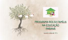 PROGRAMA BOLSA FAMÍLIA NA EDUCAÇÃO