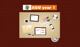 agu year 1
