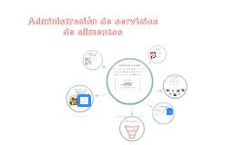 Copy of Administración de servicios de alimentos