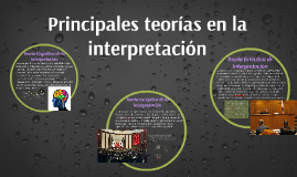 Principales teorías en la interpretación
