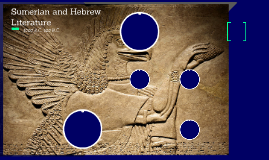 Sumerian and Hebrew Literature