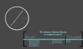 Continuum of Learning Outcomes