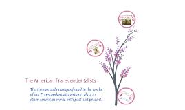 Unit 2: Transcendentalism Presentation
