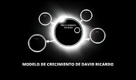 MODELO DE CRECIMIENTO DE DAVID RICARDO