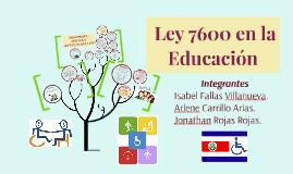 LEY 7600 EN EDUCACIÓN