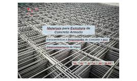 Materiais para Estrutura de Concreto Armado
