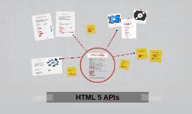 HTML 5 APIs