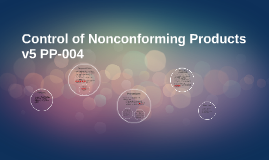 Control of Nonconforming Products