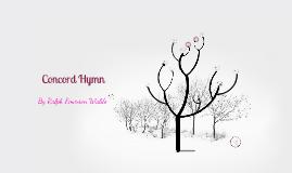 Copy of Concord Hymn by Ralph Waldo Emerson