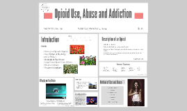 Opioid Use, Abuse and Addiction
