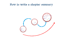 How to write a chapter summary
