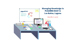 Copy of Managing Knowledge in PCAARRD-DOST