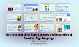 Raising a deaf child: Early exposure and integration of American Sign Language