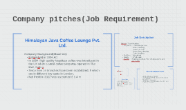 Company pitches(Job Requirement)