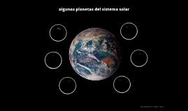 algunos planetas del sistema solar