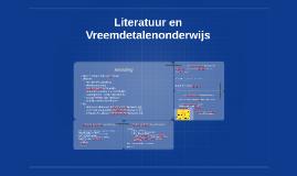 Literatuur en Vreemdetalenonderwijs