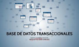 BASE DE DATOS TRANSACCIONALES