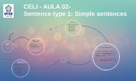 Sentence type 1: Simple sentences