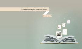 Le Langue des Signes française LSF