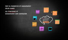 Unit 6 A2: Principles of Management