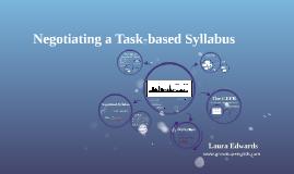 Negotiating a Task-based Syllabus