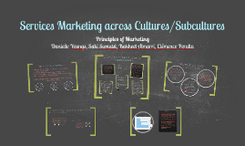Copy of Copy of Services Marketing across Cultures/Subcultures