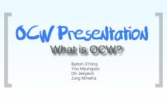 OCW Presentation