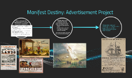 Manifest Destiny: Advertisement Project