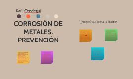 CORROSIÓN DE METALES.