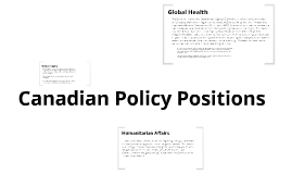 Canadian Policy Positions