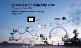 Lessons from Velo-City 2012