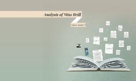 Analysis of Miss Brill