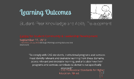 SCLD Departmental Learning Outcomes: Student and Peer Knowledge and Ability Development