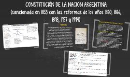 CONSTITUCIÓN DE LA NACION ARGENTINA (