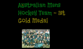 australian mens hockey first gold