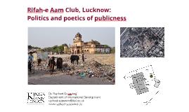 Rifah-e Aam Club, Lucknow